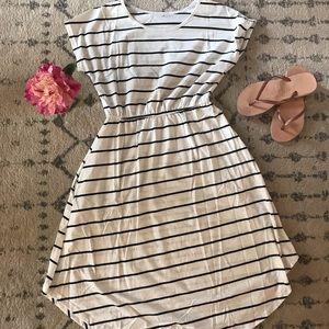 Striped Sun Dress with Pockets